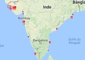 Carte Hydrographique Inde.Carte Marine Onhi Office National Hydrographique Indien