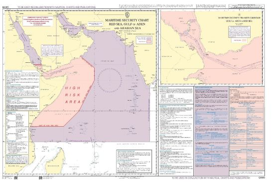 Admiralty - Q6099 - Matirime Security Chart - Red Sea, Gulf of Aden and  Arabian Sea