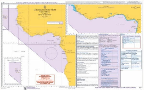 Admiralty - Q6114 - Maritime Security Chart - West africa including Gulf of  Guinea
