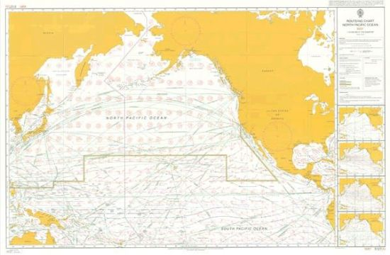 Admiralty - 5127 - Planning chart - Routeing - North Pacific Ocean