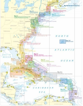 Carte marine NV Charts - Reg. 5.1 - Chesapeake North and Delaware Bay. Cape May. Philadelphia to Potomac River