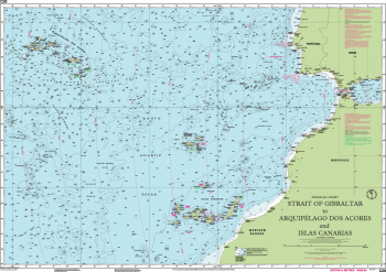 Carte marine Imray - C20 - Strait of Gibraltar to Arquipelago dos Açores and Islas Canaries - Passage Chart