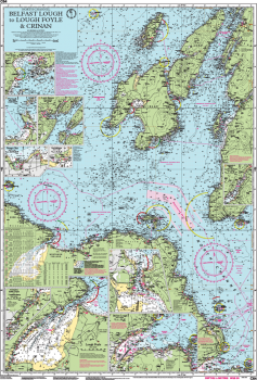 Carte marine Imray - C64 - Belfast Lough to Lough Foyle and Crinan - Belfast Lough to Lough Foyle and Crinan